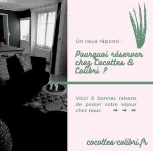 gîte gite Cocottes & Colibri Châtellerault réservation