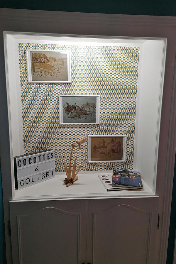 légende du colibri vitrine gîte gite Cocottes & Colibri Châtellerault