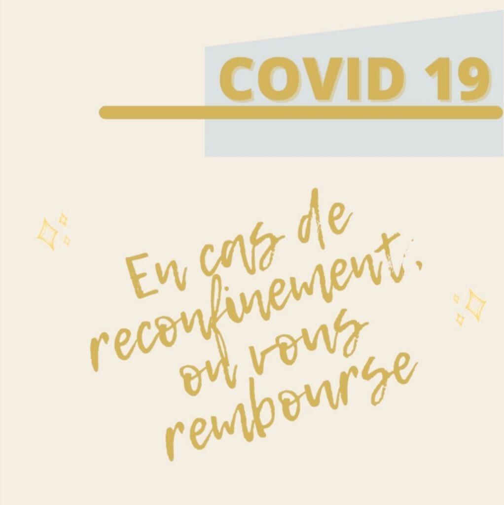 Covid 19 coronavirus annulation remboursement gîte gite Cocottes & Colibri Châtellerault